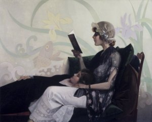 """Just a Couple of Girls"" by Henry Wilson Watrous, Brooklyn Museum"